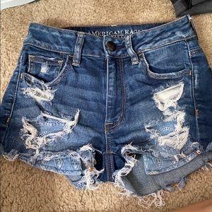 Denim  Hi-Rise shorts